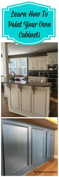 Learn how to paint your own cabinets. This video tutorial will give you a step-by-step guide as well as a complete Supply List.   Kitchen Cabinets Vanity Paint Painting Renovation Remodel Facelift Refurbish Brush Seal