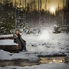 The first snow & the last puddle by Elena Shumilova, via 500px