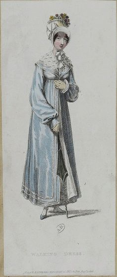 1816 Ackermann's Repository. Walking Dress.