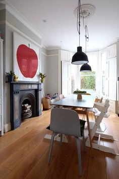 After an extensive renovation, this once boxy Victorian house is now opened up into a big family-friendly space that's drenched in natural light. The downstairs is a sitting room and office space (with a big picture window looking out into the garden) and an open plan kitchen diner that leads to the garden.