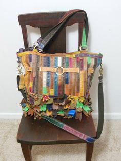Vintage patchwork Leather Satchel Bag / by skinsvintagefashion, $54.00