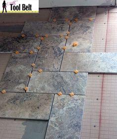 12x24 Floor Tile Installation - Master Bath