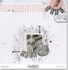 Inspirationsgalerie Layout Werkstatt Layout mit Mixed Media Company von Heidi Swapp Layout von Heidi Walter