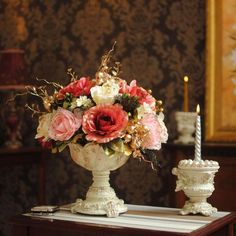 A beautiful and timeless rose arrangement.