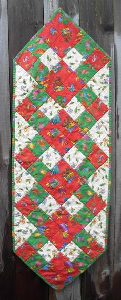 Squares on Point Table Runner Pattern