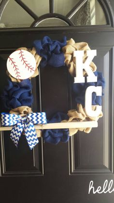 Kansas City Royals MLB Wreath by EmmaJayneDecor on Etsy