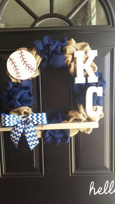 Kansas City Royals MLB Wreath by EmmaJayneDecor on Etsy