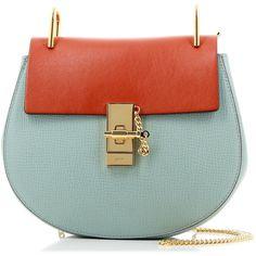 Chloé Baby Red Blue Small Drew Bag (85.455 RUB) ❤ liked on Polyvore featuring bags, handbags, blue handbags, green bags, red bag, metallic handbags and chloe bags
