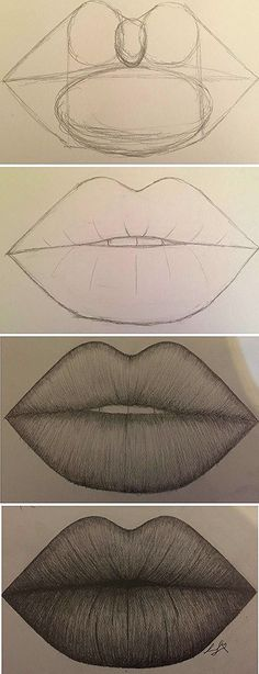 Amazing Lip Drawing Ideas & Inspiration · Brighter Crafts - Indispensable address of art 20 + Erstaunliche Lippenzeichnung Ideen & Inspiration · Helleres Handwerk – Indispensable address of art amazing lip drawing ideas & inspiration · brighter craft Cool Art Drawings, Pencil Art Drawings, Art Drawings Sketches, Easy Drawings, Animal Drawings, Drawings Of Lips, Amazing Drawings, Cute People Drawings, Amazing Art