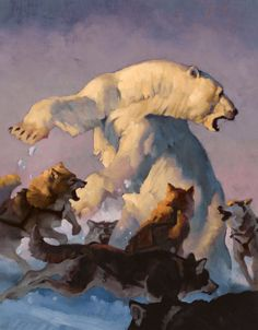 Greg Manchess's polar bear attack from Nanuk