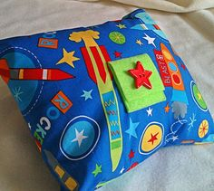 Blue Launch Tooth Fairy Pillow with Robert Kaufman