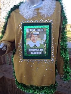 Will Ferrell Elf Ugly Christmas Sweater by TheHolidayHut on Etsy