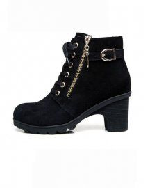 Newlook21#BLACK LACE-UP AND ZIPPER BOOTS