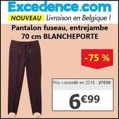 #missbonreduction; Remise de 75 % sur le Pantalon fuseau, entrejambe 70 cm BLANCHEPORTE chez Excedence.http://www.miss-bon-reduction.fr//details-bon-reduction-Excedence-i246-c1837347.html
