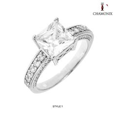Chamonix 18kt White Gold-Plated Cubic Zirconia Engagement Ring - Assorted Styles