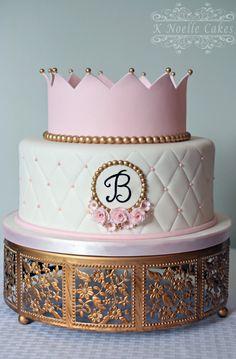 Princess 1st birthday cake by K Noelle Cakes