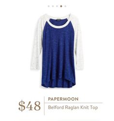 Stitch Fix: Papermoon Belford Raglan Knit Top - this is the perfect, easy, casual, everyday top