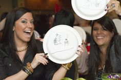 Paper plate ice breaker. Example is for a Christmas party, but could revise it for any event.