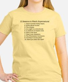 10 Reasons to Watch Supernatural T-Shirt for