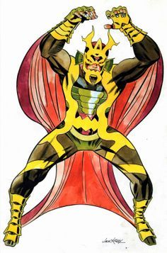 (There's just something about this, classic imagery, you gotta love) Jack Kirby's Mantis from the 4th World