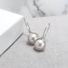 Pearl Earrings Sterling Silver | June Birthstone | Pearl Earrings UK | Ivory Pearl Earrings | Silver Pearl Earrings | Pearl Jewellery UK by KianDesigns on Etsy https://www.etsy.com/listing/267805709/pearl-earrings-sterling-silver-june