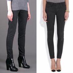 "Who What Wear Black Shiny Patent Pants size 8 26/"" inseam B79"