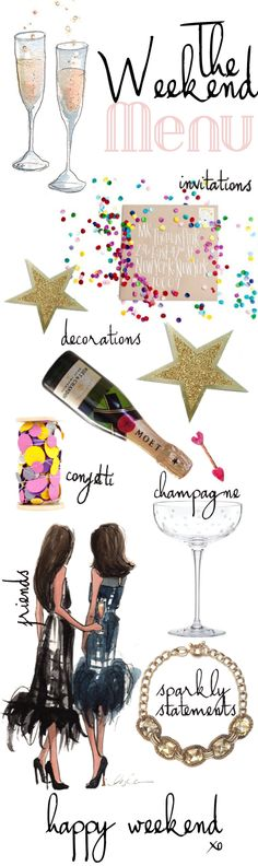 Happy Weekend! Touches for the perfect party!