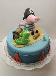 Image result for george pig pirate cake