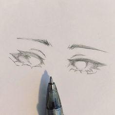 """Miyu on Instagram: """"👀 . . . . . #sketching #sketchbook #draw #sketch #drawing #drawings #art #artist #artwork #fantasydrawing #characterdesign #animestyleart…"""" - Art Drawings Sketches Simple, Pencil Art Drawings, Cool Drawings, Sketch Drawing, Anime Sketch, Indie Drawings, Eye Sketch, Eye Drawings, Drawing Poses"""