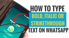 Here we are going to show the simple steps how you can bold your text, format your text as italic or make a strike-through one of your text to highlight a point. Instant Messaging, Copywriting, Texts, Messages, Type, Words, Highlight, Simple, Lights