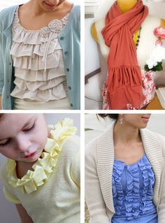 DIY ruffled t-shirt tutorials (and other ruffly things) | How About Orange