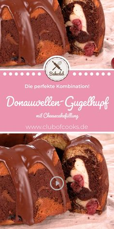 If you can not decide between Gugelhupf, Donauwelle and Cheesecake, you must not miss this recipe! This Donauwellen Gugelhupf with cheesecake filling is simply awesome! Do it yourself now, just click Chocolate Cake Recipe Easy, Chocolate Cookie Recipes, Chocolate Cheesecake, Homemade Chocolate, Chocolate Chips, Easy Cheesecake Recipes, Easy Cookie Recipes, Peanut Butter Cookie Recipe, Chip Cookie Recipe
