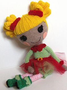 Holly Sleighbells crocheted by ladynoir63, via Flickr