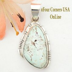 Four Corners USA Online - Dry Creek Turquoise Sterling Silver Pendant by Native American Navajo Robert Concho NAP-1433, $160.00 (http://stores.fourcornersusaonline.com/dry-creek-turquoise-sterling-silver-pendant-by-native-american-navajo-robert-concho-nap-1433/)
