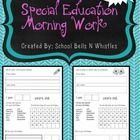 FREE!    As a special education teacher I am constantly struggling to find morning work that ALL of my kids are able to complete. What I ...