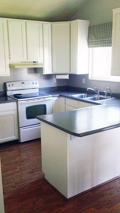 How to paint countertops...so excited I found this! Temp. & cheap fix until you can afford new ones :)