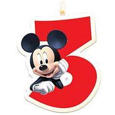 Mickey Mouse 3rd Birthday Candle