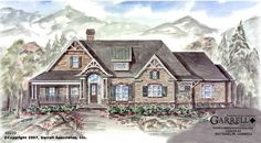 Farrington House Plan | House Plans by Garrell Associates, Inc- It looks like this meets all of our specifications, if the design was flipped. However, looks pretty expensive...