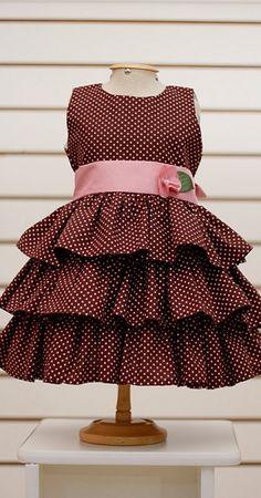 Cute Baby Dresses, Little Girl Dresses, Girls Dresses, Toddler Dress, Toddler Outfits, Girl Outfits, Toddler Girl, Dress Anak, Frock Patterns