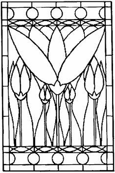 Květiny – vitráž Stained Glass Patterns Free, Stained Glass Designs, Adult Coloring, Coloring Books, Embroidery Patterns, Quilt Patterns, Classroom Projects, Art Plastique, Mosaic Glass