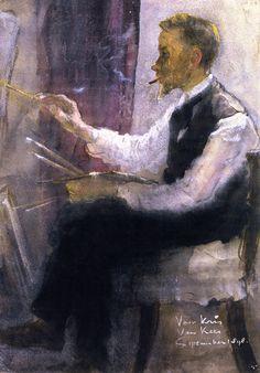 The Painter Chris Addicks in his Studio, 1898 . Kees van Dongen