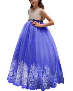 Dark Blue Strapless Flower Girl DressGirls DressBridesmaid DressProm DressSimple Wedding DressGirls DressesPrincess DressFormal Dress
