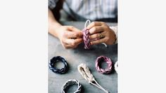 Matt making the turkshead knots for Martha Stewart's American Made Marketplace.  Do you want to know more about their 3rd and 4th generation knot tying business?  Check out their profile and pin to your friends. :)