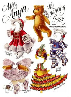 The Teddy Bear and Friends Paper Doll Fantasy: Miss Anya the Dancing Bear by Peggy Jo Rosamond