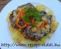 Sörös, sajtos, gombás hús tepsiben Beef, Chicken, Food, Meat, Essen, Meals, Yemek, Eten, Steak