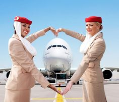 Happy Valentines Day from my fav Airline Emirates Flights, Emirates Airline, Airline Flights, Emirates A380, Air Hostess Uniform, Stewardess Costume, Emirates Cabin Crew, Trolley Dolly, Airline Cabin Crew