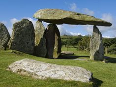 Wales, Pembrokeshire, the Site of the Ancient Neolithic Dolmen at Pentre Ifan, Wales's Most Famous Photographic Print