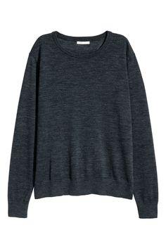 Merino wool jumper - Dark grey marl - Ladies | H&M 1
