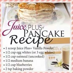 pancakes with juice plus+ vanilla complete more healthy pancakes ...