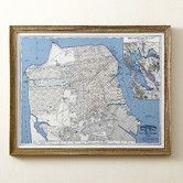 Found it at Wayfair - San Francisco Map Framed Print